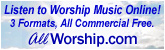 Listen to commercial-free worship music brought to you by AllWorship.com.